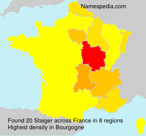 Surname Staiger in France