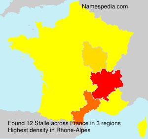 Surname Stalle in France