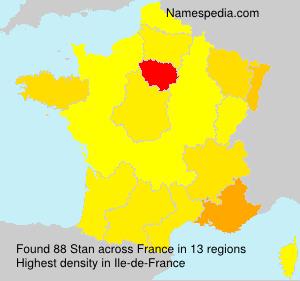 Surname Stan in France