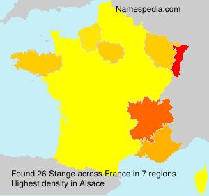 Surname Stange in France
