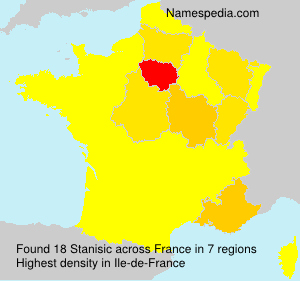Surname Stanisic in France