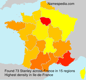 Surname Stanley in France