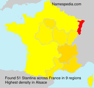 Surname Stantina in France