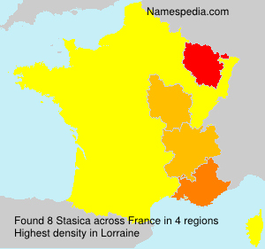 Surname Stasica in France