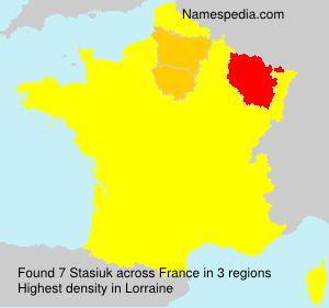 Familiennamen Stasiuk - France