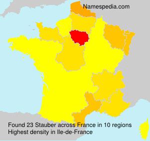 Surname Stauber in France