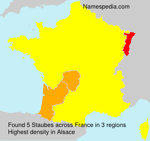 Surname Staubes in France