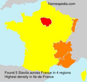 Surname Stavila in France