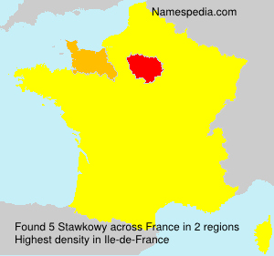 Surname Stawkowy in France