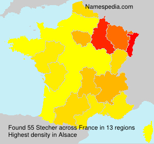 Surname Stecher in France