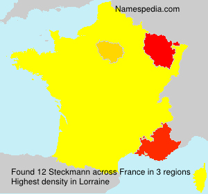Surname Steckmann in France