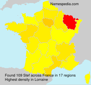 Surname Stef in France
