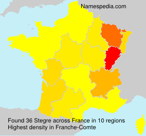 Surname Stegre in France
