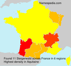 Surname Steigerwald in France
