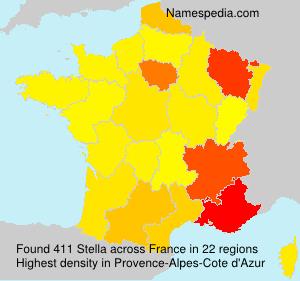 Surname Stella in France