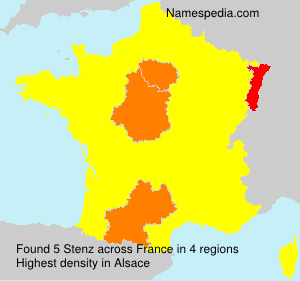 Surname Stenz in France