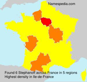 Familiennamen Stephanoff - France