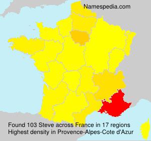Surname Steve in France