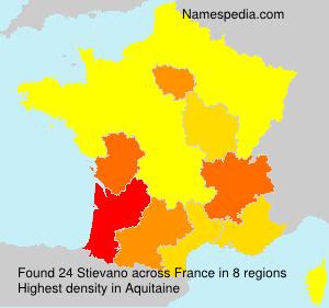 Surname Stievano in France