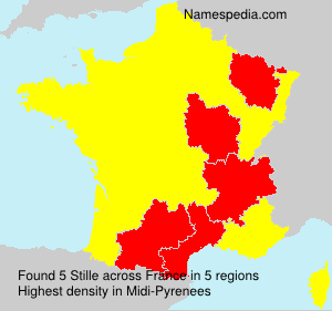 Surname Stille in France