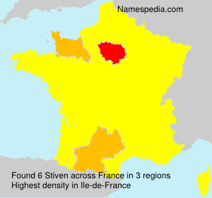 Surname Stiven in France