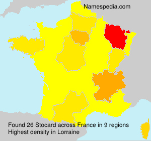 Surname Stocard in France