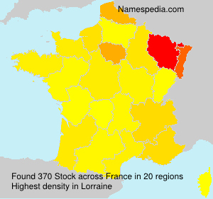Surname Stock in France