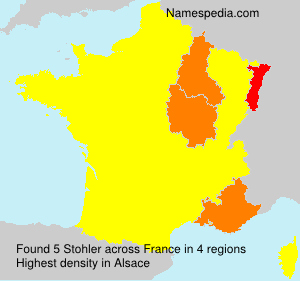 Surname Stohler in France