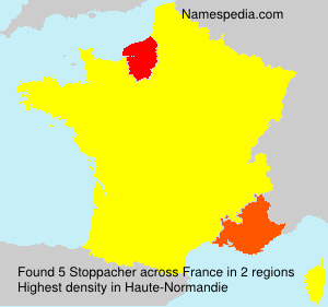 Surname Stoppacher in France