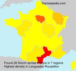 Familiennamen Storch - France