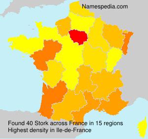 Surname Stork in France