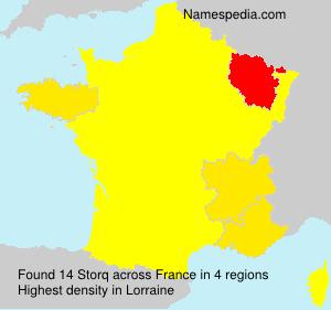Familiennamen Storq - France