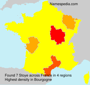 Surname Stoye in France