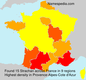 Surname Strachan in France