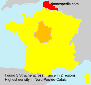 Surname Strache in France