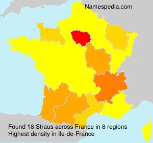 Familiennamen Straus - France