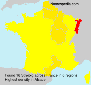 Surname Streibig in France