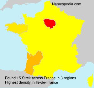 Familiennamen Strek - France