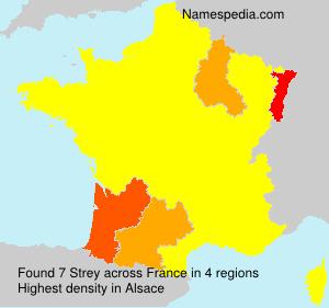 Familiennamen Strey - France
