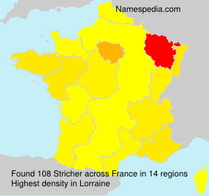Surname Stricher in France