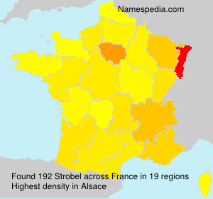 Surname Strobel in France