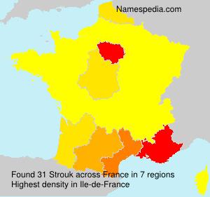 Surname Strouk in France