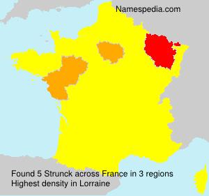 Surname Strunck in France