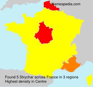 Familiennamen Strychar - France