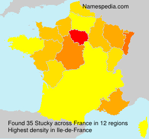 Surname Stucky in France
