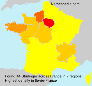 Surname Studinger in France