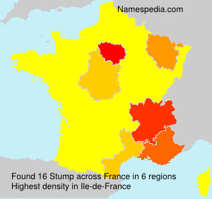 Surname Stump in France