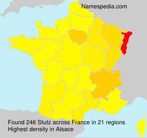 Surname Stutz in France