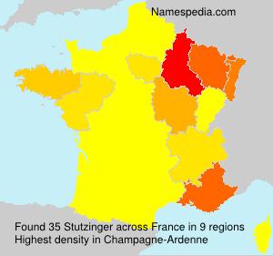 Familiennamen Stutzinger - France