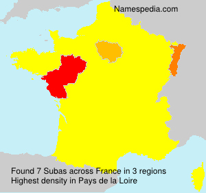Surname Subas in France